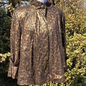 Cartise animal print metallic blazer jacket 10